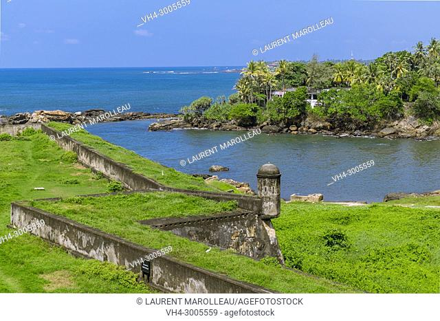 Fortifications in Galle Fort, Old Town of Galle and its Fortifications, Southern Province, Sri Lanka, Asia