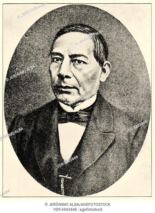 Mexican war. Portrait of Benito Pablo Juárez García (San Pablo Guelatao, Oaxaca, March 21, 1806-Mexico City, July 18, 1872) was a Mexican lawyer and politician