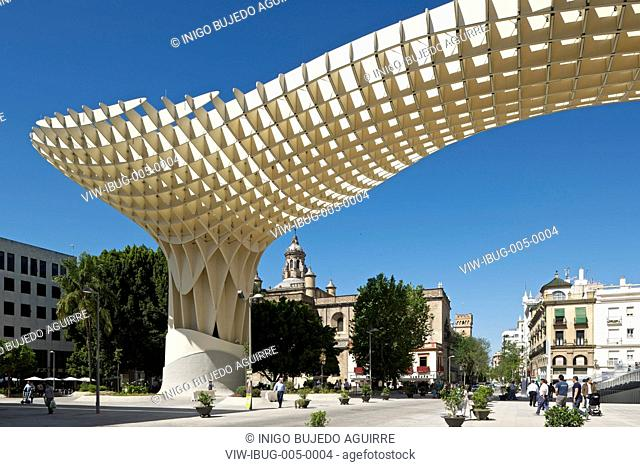 METROPOL PARASOL BY J MAYER H ARCHITECTS IN SEVILLA SPAIN. General exterior morning viewSEVILLA, SPAIN, Architect