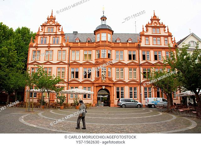The Gutenberg museum facade in Meinz, Germany, Europe