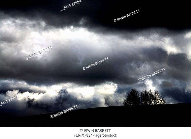 Storm Clouds over Hill, Milford, Nova Scotia