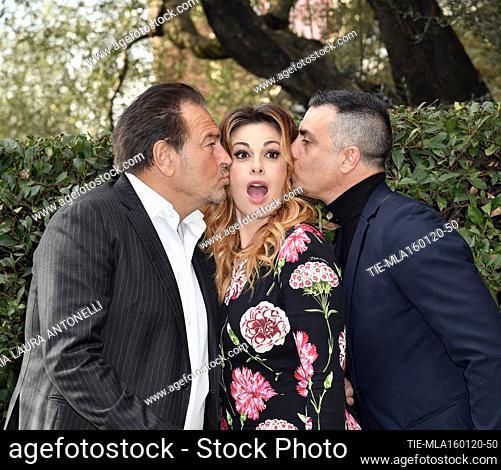 Sebastiano Somma, Vanessa Incontrada, Simone Montedoro during the photocall of tv fiction ' Come una madre ' (Like a mother) Rome, ITALY-16-01-2020