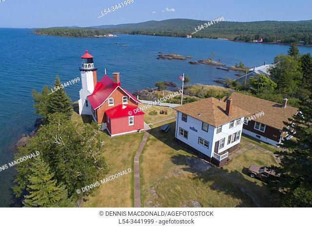 Eagle Harbor lighthousein Eagle Harbor michigan on Keewnaw peninsula on lake superior