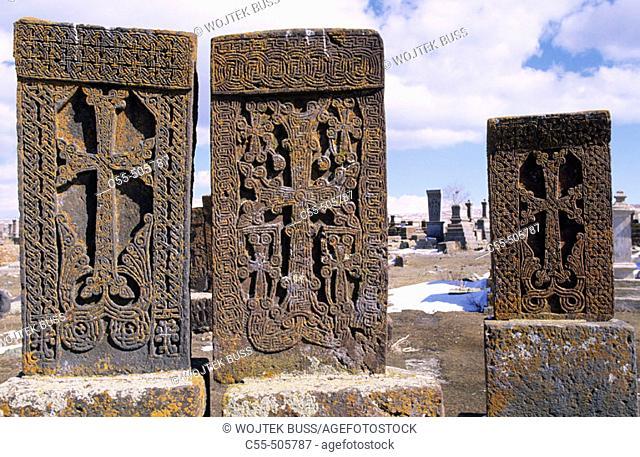 'Khachkars', Noraduz by Lake Sevan. Armenia