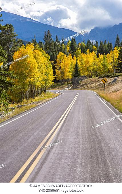 Fall color on Bear Lake Road in Rocky Mountain National Park Colorado