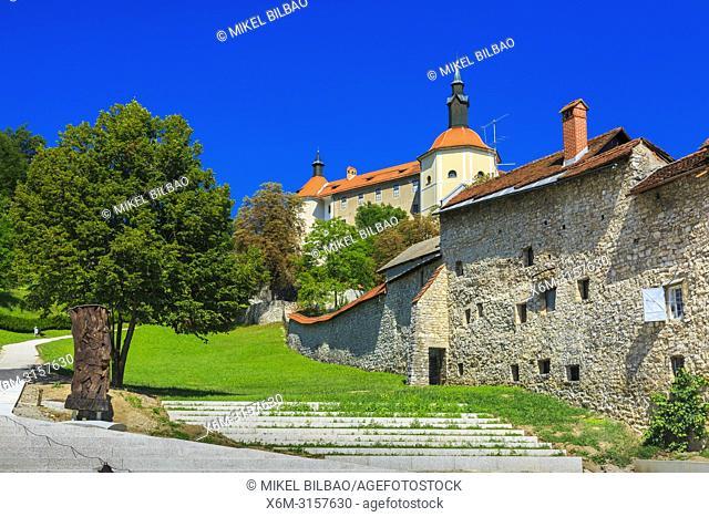Loka Castle. Skofja Loka. Upper Carniola region. Slovenia, Europe