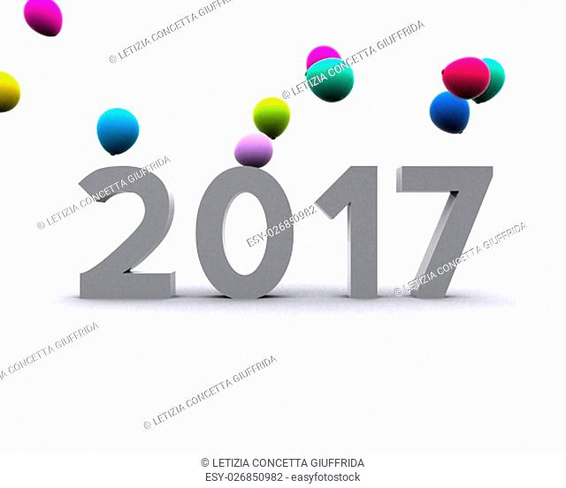 year, new, new year, new year 2017, red, white, blank, isolated