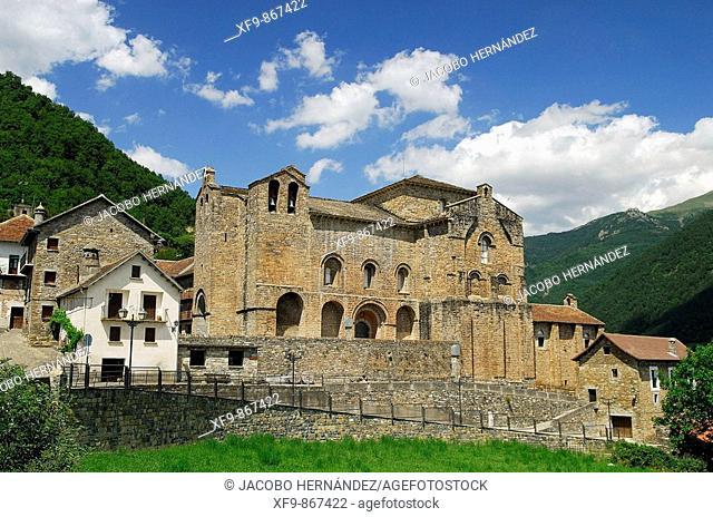 Romanesque monastery of San Pedro. S. XI. Siresa. Huesca province. Aragon. Spain