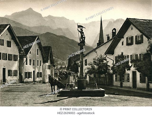 'Partenkirchen, Floriansplatz', 1931. Artist: Kurt Hielscher
