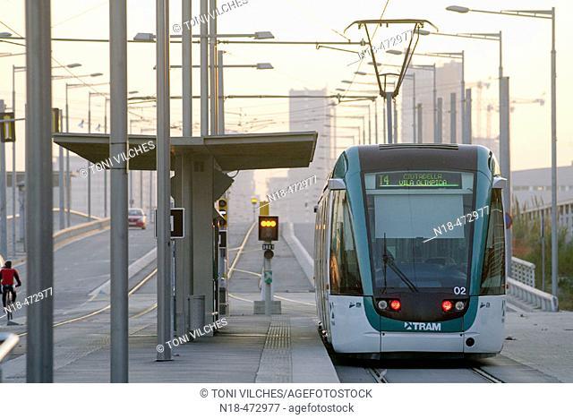 Tramway. Sant Adrià del Besòs. Barcelona. Spain