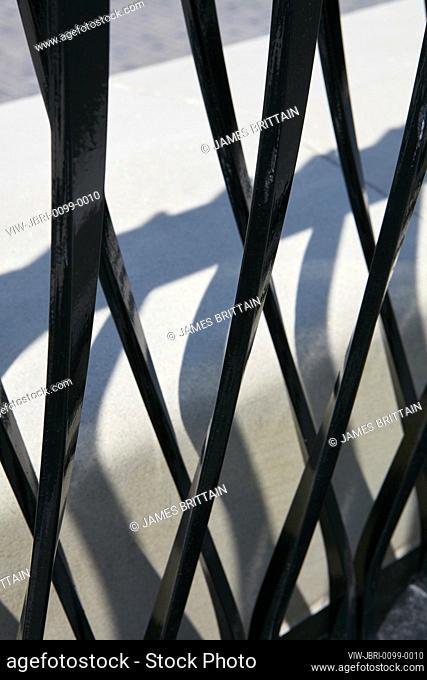 Detail of decorative railings. Visitor Welcome Centre, Ottawa, Canada. Architect: Moriyama and Teshima, 2019