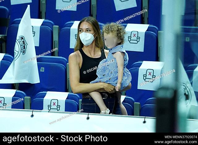 Spanish model Helen Lindesand her family attend the match of Real Madrid v FC Barcelona - Liga ACB Final in Madrid, Spain Featuring: Helen Lindes Where: Madrid