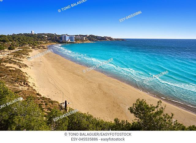 Platja Llarga Salou beach in Tarragona of Catalonia
