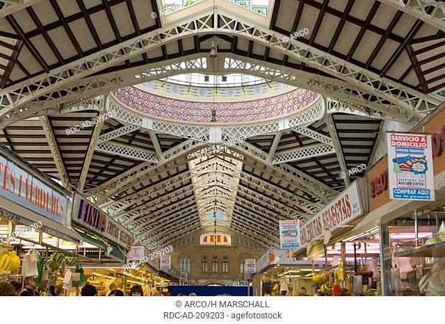 Market hall 'Mercado Central', Valencia, Costa Blanca, Spain