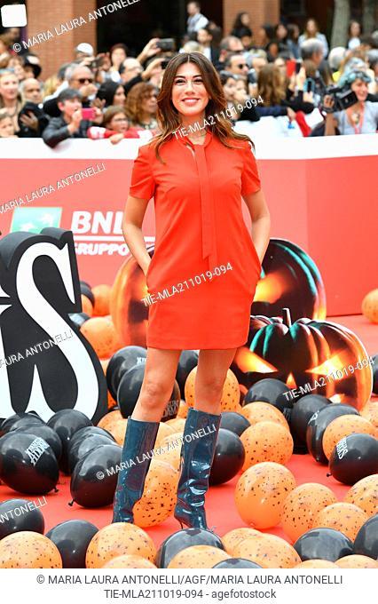 Virginia Raffaele during the red carpet of cartoon ' La famiglia Addams ' at the 14th Rome Film Festival, Rome, ITALY-20-10-2019