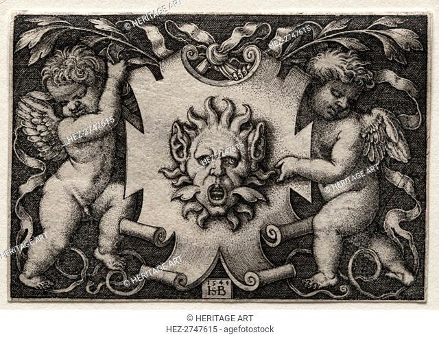 Vignette au Mascaron, 1544. Creator: Hans Sebald Beham (German, 1500-1550)