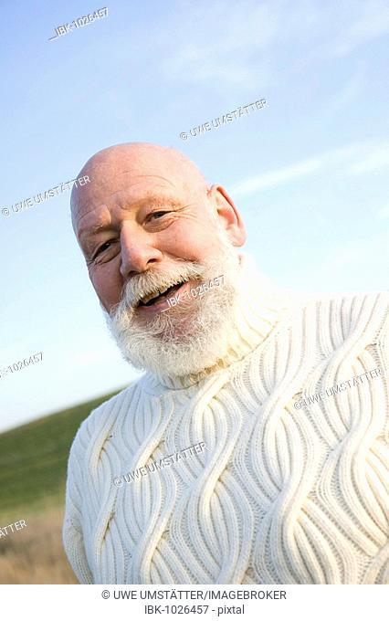 Smiling senior citizen