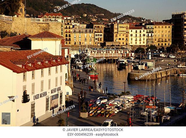 Naval Museum, fishing port, Donostia, San Sebastian, Gipuzkoa, Euskadi, Spain