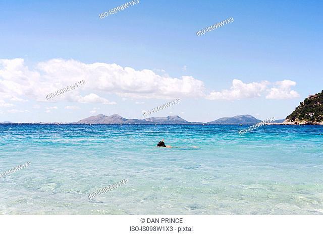 Man snorkeling, Majorca, Spain