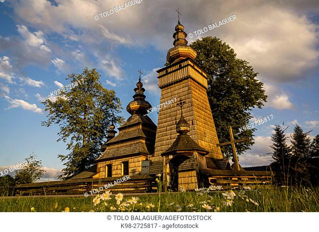 Santa Paraskewa Orthodox church, Kwiaton. 17th century. UNESCO World Heritage, Voivodeship of Little Poland, Carpathians. Poland