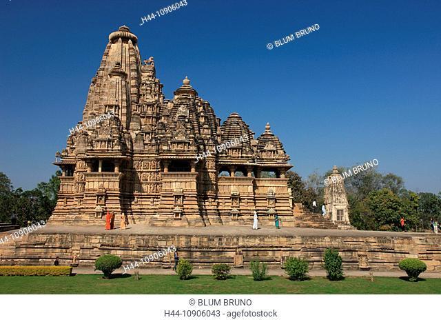 Khajuraho, Madhya Pradesh, India, Asia, Unesco, world heritage site, Lakshmana temple, Chandella Dynasty, architectural masterpiece, architecture, Hinduism
