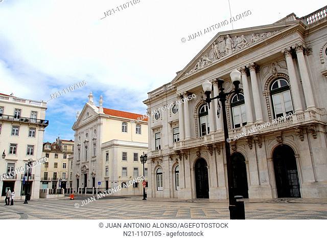 City Hall in the Praça do Municipio. Chiado. Lisbon, Portugal