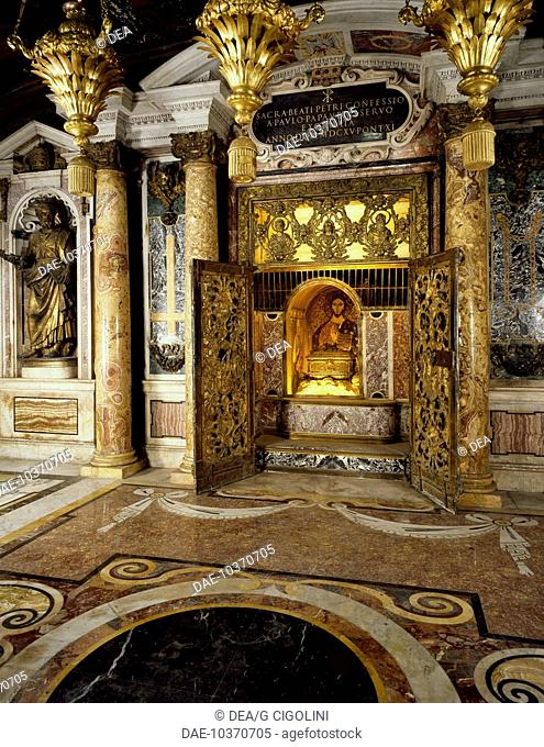 Confession of St Peter, by Carlo Maderno (1556-1629), Vatican Grottoes, St Peter's Basilica, Rome. Vatican City, 16th century