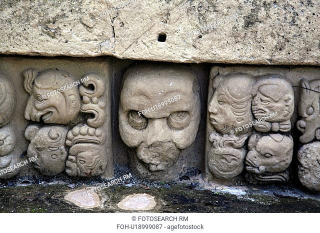 copan, person, ruins, mayan, honduras, people