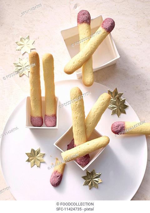 Match stick biscuits