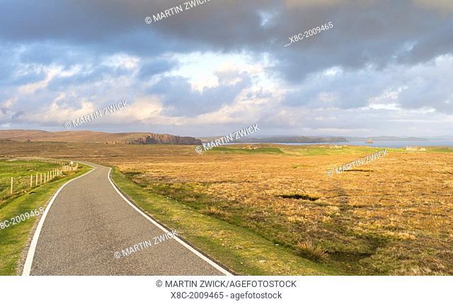 Landscape in Eshaness, Northmavine. europe, central europe, northern europe, united kingdom, great britain, scotland, northern isles, shetland islands, May