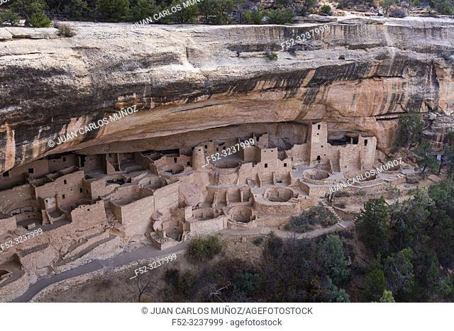 Cliff Palace, Mesa Verde National Park, Unesco World Heritage Site, Colorado, Usa, America