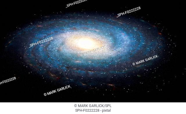 Milky Way galaxy, illustration