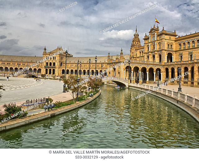 Spain Square in Sevilla Andalucia. Spain