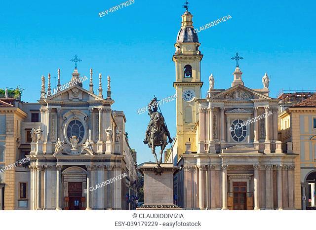 Chiesa di Santa Cristina e Carlo church in Piazza San Carlo, Turin, Italy