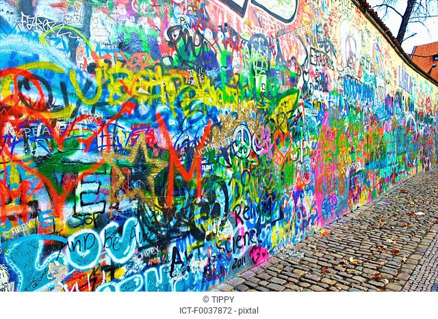 Czech Republic, Prague, graffitis