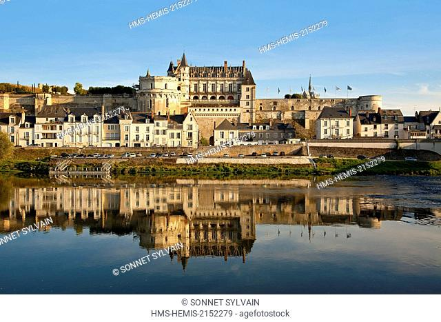 France, Indre et Loire, Loire Valley listed as World Heritage by UNESCO, Chateau d'Amboise
