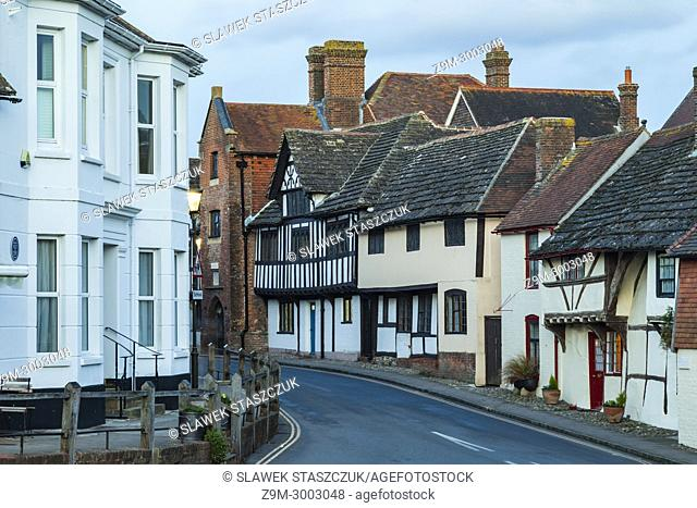 Evening in Steyning, a historic small town in West Sussex, England
