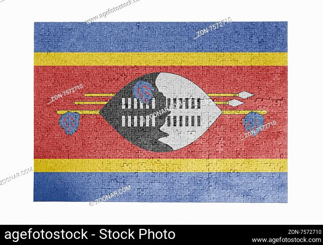 Large jigsaw puzzle of 1000 pieces - flag - Swaziland