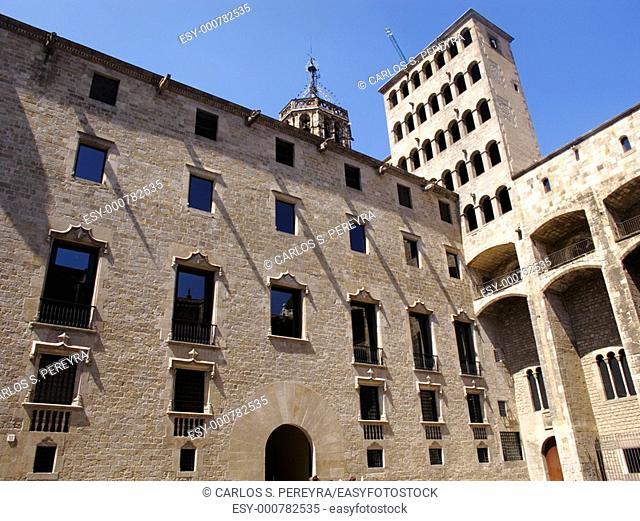 Plaça del Rei  Gothic quarter  Barcelona  Spain