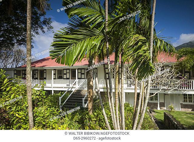 St. Kitts and Nevis, Nevis, Cole Hill, Montpelier Plantation Inn, former sugar plantation