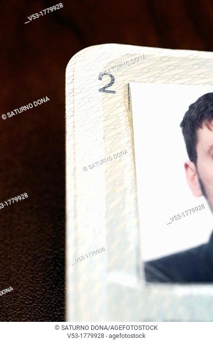 Part of Passport Page with Photo