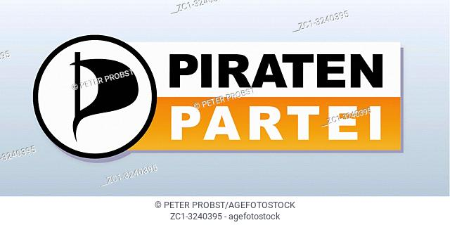 Logo of German political party Piratenpartei - Germany