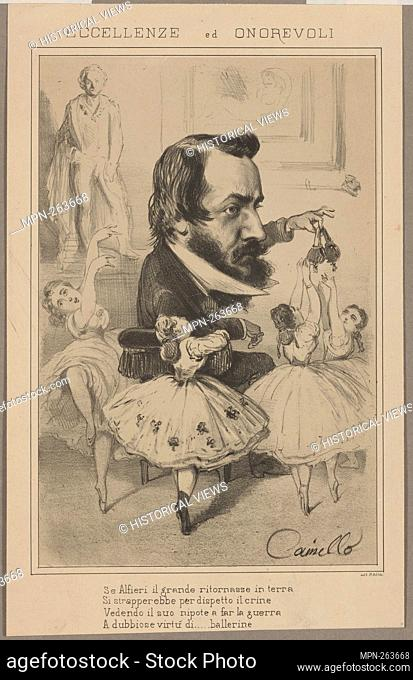 Eccellenze ed onorevoli. Camillo (Lithographer). Prints depicting dance Subjects. Date Issued: 1860 - 1890 (Questionable)