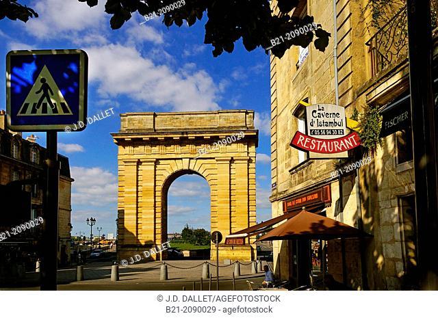 Porte de Bourgogne (1755-1757), Bordeaux, Gironde, Aquitaine, France