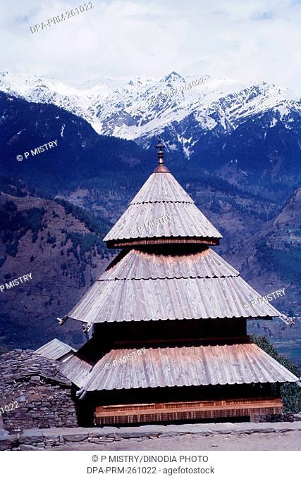 Tripura Sundari Temple in Naggar, Himachal Pradesh, India, Asia