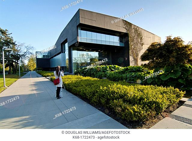 The library exterior at Langara College in Vancouver, BC, Canada