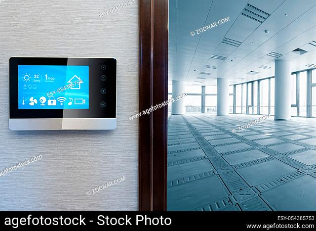 smart screen with smart home and modern office