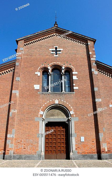 Facade of St. Peter Martyr church in Monza