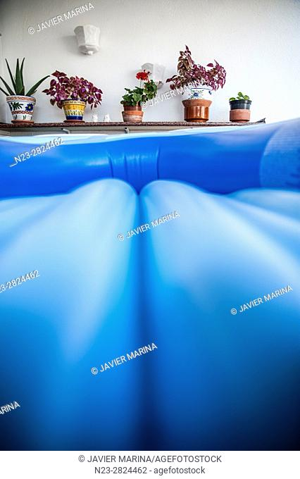 Detail of an inflatable raft, Valencia, Spain