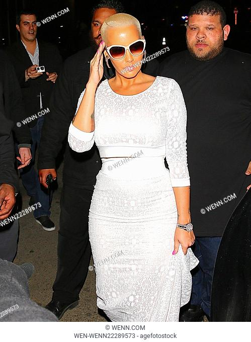 Amber Rose leaving Ace Of Diamonds in Hollywood Featuring: Amber Rose Where: Los Angeles, California, United States When: 09 Mar 2015 Credit: WENN.com